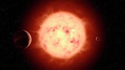 Super Earth Alien Planet Poster by Joe Tucciarone