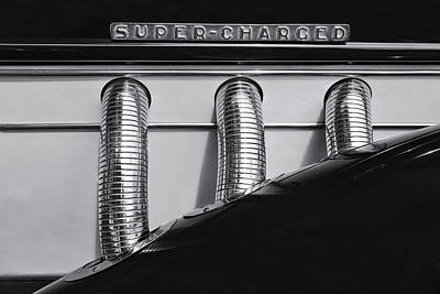 Supercharged Mono Poster by Russ Dixon