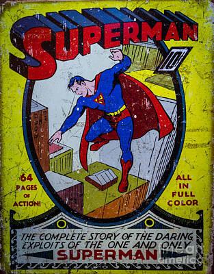 Superman Poster by Mitch Shindelbower