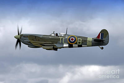 Supermarine Spitfire Lf. Ixe Pl344 G-ixcc Poster by Andrew Harker