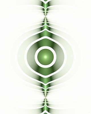 Surface Waves - Green Poster by Anastasiya Malakhova