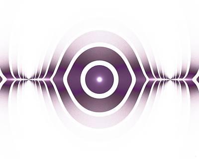 Surface Waves - Purple Poster by Anastasiya Malakhova