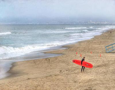 Surfer Boy Poster by Juli Scalzi