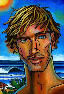 Surfer Dude Poster by Douglas Simonson