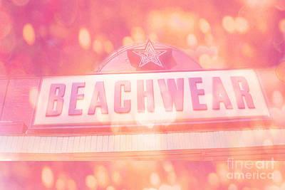 Surreal Summer Beachwear Sign - Mrytle Beach South Carolina Poster by Kathy Fornal