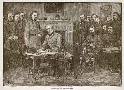 Surrender Of General Lee, From A Book Poster by Alfred R. Waud