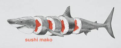 Sushi Mako Poster by Eric Fan