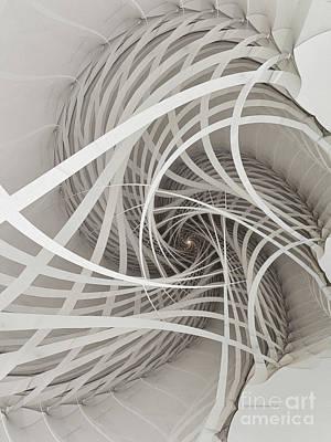 Suspension Bridge-fractal Art Poster by Karin Kuhlmann