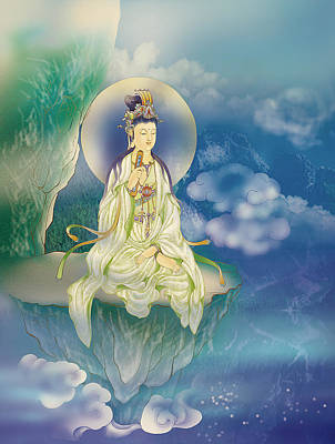 Sutra-holding Kuan Yin Poster by Lanjee Chee