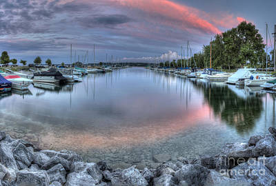 Sutton's Bay Marina Poster by Twenty Two North Photography