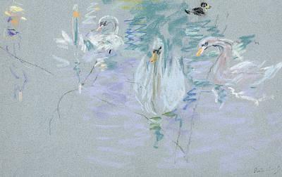 Swans Poster by Berthe Morisot