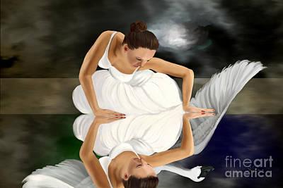 Swans Poster by Sydne Archambault