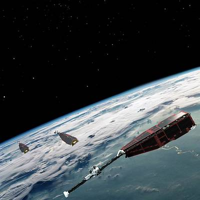 Swarm Satellites Poster by European Space Agency/aoes Medialab