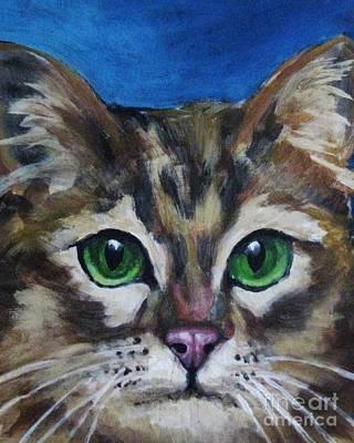 Sweet Green Eyes  Poster by John Malone