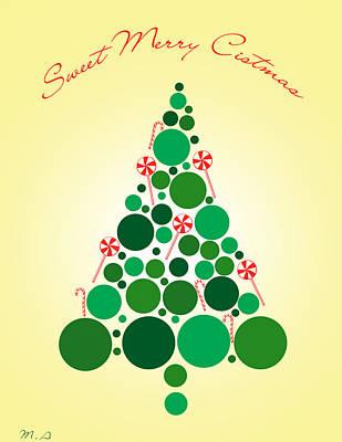 Sweet Merry Christmas Poster by Mark Ashkenazi