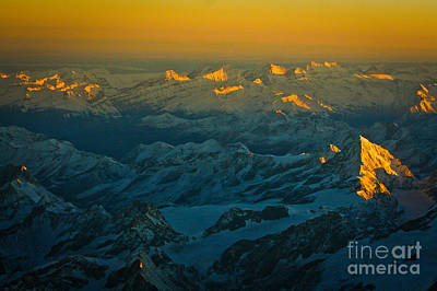 Swiss Alps Poster by Stefano Carini