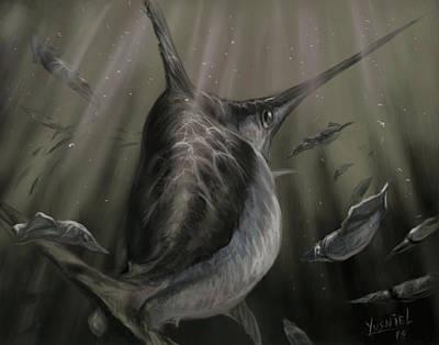 Sword Fish  Poster by Yusniel Santos