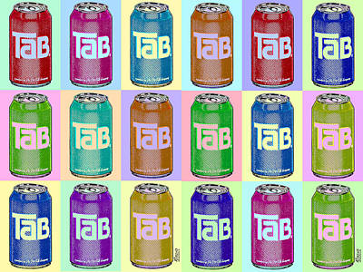 Tab Ode To Andy Warhol Repeat Horizontal Poster by Tony Rubino