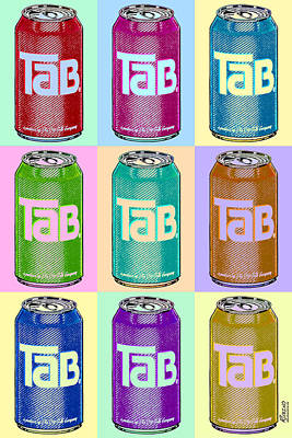 Tab Ode To Andy Warhol Repeat Poster by Tony Rubino