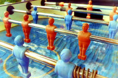 Table Football Poster by Fabrizio Troiani