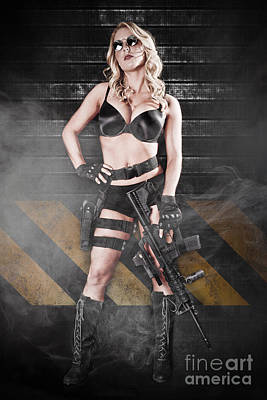 Tactical Girl Poster by Jt PhotoDesign