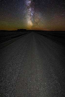 Take A Back Road Night Version Poster by Aaron J Groen