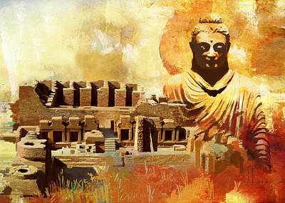 Takhat Bahi Unesco World Heritage Site Poster by Catf