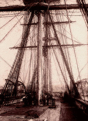 Tall Ship Poster by Jack Zulli