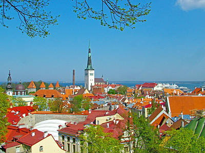 Tallinn From Plaza In Upper Old Town-estonia Poster by Ruth Hager