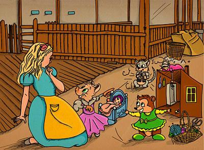 Tammy's Backyard Poster by Reynold Jay