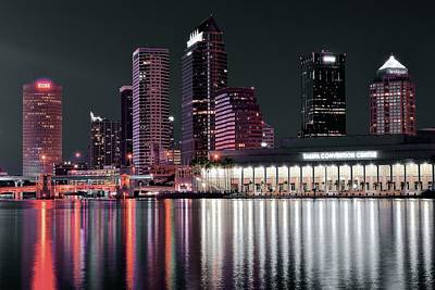 Tampa Bay Black Night Poster by Frozen in Time Fine Art Photography