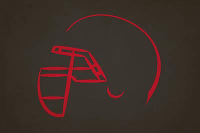 Tampa Bay Buccaneers Helmet Poster by Joe Hamilton