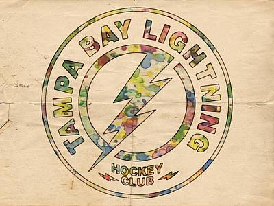 Tampa Bay Lightning Logo Art Poster by Florian Rodarte