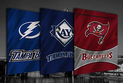 Tampa Bay Sports Teams Poster by Joe Hamilton