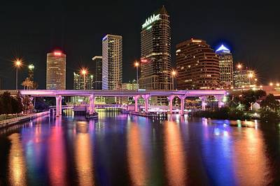 Tampa Lights Poster by Frozen in Time Fine Art Photography