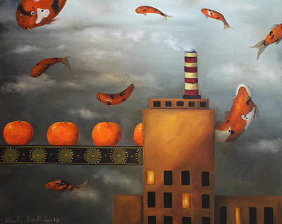 Tangerine Dream Poster by Leah Saulnier The Painting Maniac