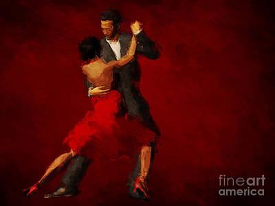 Tango Poster by John Edwards