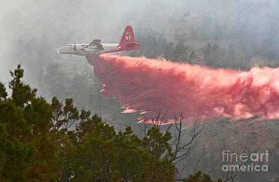 Poster featuring the photograph Tanker 07 On Whoopup Fire by Bill Gabbert