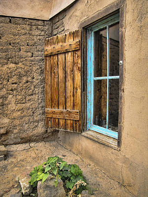 Taos Window Poster by Ann Powell