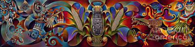Tapestry Of Gods Poster by Ricardo Chavez-Mendez