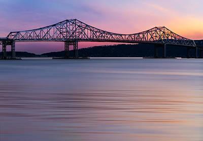 Tappan Zee Bridge Sunset Poster by Susan Candelario