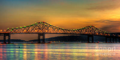 Tappan Zee Bridge Twilight Iv Panoramic Poster by Clarence Holmes
