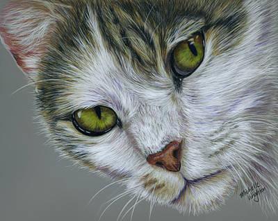 Tara Cat Art Poster by Michelle Wrighton