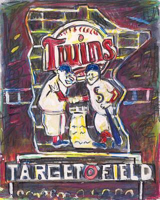 Target Field At Night Poster by Matt Gaudian