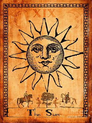 Tarot Card The Sun Poster by Cinema Photography