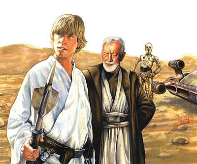Tatooine Massacre Poster by Edward Draganski