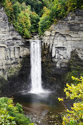 Taughannock Falls View From The Top Poster by Christina Rollo