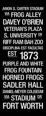 Tcu College Town Wall Art Poster by Replay Photos