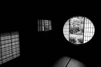 Tea House Interior Of Zen Temple Poster by Daniel Hagerman