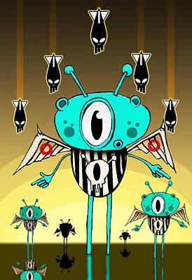 Team Alien Poster by Johan Lilja